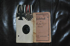 MEDAL WW1 GERMAN GROUP OF 3 + SOLDBUCH - AUGUST MAROHN