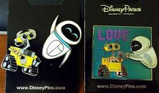 Wall-E & Eve lot of pins LOVE + set of 2 - Disney Park Pins - NEW