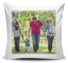 Personalised Any Name & Any Picture Cushion Cover - 40cm x 40cm - Brand New