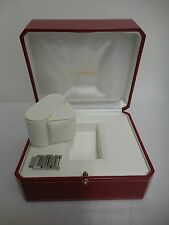 "Cartier watch box & links red leather gold decor white interior 6x5x3.5"" CO 1018"
