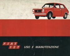 CD LIBRETTO USO E MANUTENZIONE FIAT 127 TIPO 127.A - IV 1971 + OFFICINA ENGINES