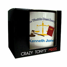 Crazy Tony's Personalised Best Lawyer Mug, Graduation, Adult, Gifts For Lawyers