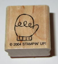 Mitten Rubber Stamp Gloves Winter Stampin' Up! Mini Retired EUC Cold Weather Kid