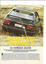 ESSAI ARTICLE PRESSE REPORTAGE ANNEE 1984 MAZDA 323 4X4 3 PAGES