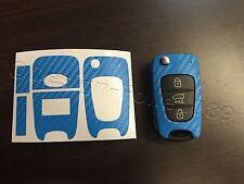 Carbon H-Blau Folie Schlüssel KIA Sportage Sorento Picanto Venga Soul Ceed Rio