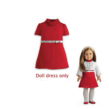 """American Girl MY AG RUBY RIBBON DRESS IN BAG for 18"""" Dolls Holiday Red NEW"""