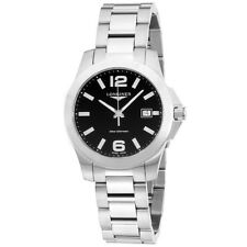 Longines Stainless Steel Black Dial Womens Watch L33784586