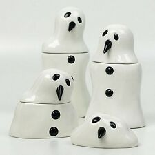 MARCEL DZAMA 'Melting Snowmen', 2005 Set of 4 Ceramic Jars / Canisters **NEW**