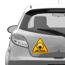 Baby in Car Vinyl Sticker, Car Bumper, Window, 21 cm width size - Car stickers