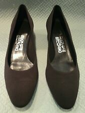 Salvatore Ferragamo  woman's  shoes  brown  size  9.5 NWOB