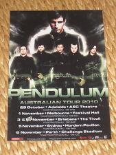 PENDULUM  -  2010  AUSTRALIAN  TOUR  -  PROMO TOUR POSTER