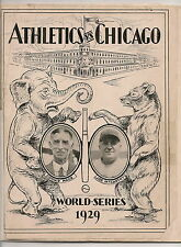 1929 World Series Program Philadelphia A's-Cubs A's Win in Five!!