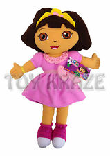 "DORA THE EXPLORER PILLOW PLUSH! PINK DRESS X LARGE SOFT CUDDLE DOLL 25-26"" NEW"