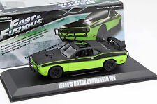 Letty's Dodge Challenger R/T Film Fast & Furious 7 2015 vert / noir 1:43 Greenli