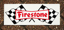 VINYL SELF-ADHESIVE FIRESTONE TYRE SIGN. 33x12.5cm.