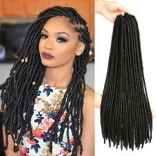 "18"" Dreadlock Faux Locs Braid Hair Crochet Braids Black Synthetic Hair Extension"