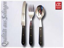 Besteckset 3-teilig Besteck Tischmesser aus Solingen in schwarz.
