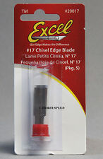 EXCEL #17 CHISEL EDGE BLADE PK OF 5 for models wood cutter carving EXL 20017 NEW