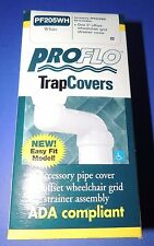 NEW PROFLO Trap Pipe Covers Undersink Bath Lavatory WHITE ADA  PF205WH USA