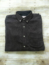 J. Crew Wallace and Barnes for J. Crew Wool Blend Button Down Shirt Sz S Brown