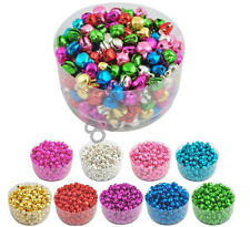 Colorful 100pc Aluminum Jingle Bells Beads Dangle Pendant Jewelry Finding Making