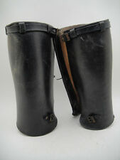 Antique VINTAGE MOTORCYCLE SPATS HARLEY INDIAN Racing Rider Puttee Leggins Early