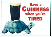 GUINNESS POSTER  - NOSTALGIC  RETRO SIGN - VINTAGE ART