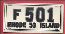 1953 TOPPS License Plate Trading Cards # 43 RHODE ISLAND