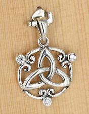 Anhänger Silber mit Zirkonia klar Celtic  Keltisch Dreifaltigkeit Triquetra