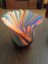 "5"" Cocktail mixed drink coffee stirrer/ straw –Assorted neon color 1,000ct."
