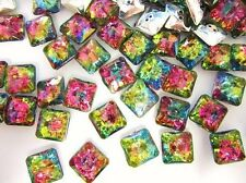 20 Multi-Color Jewel Rhinestone 12mm Sewing Button/2 hole/sewing/trim Sb7-Square