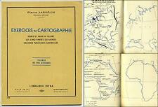 Exercices Cartographie Fin d'Etude Terres et Mers du Globe 1951 Istra Jaguelin