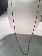 Vintage Style Silver Stainless Steel 30 Inch Gothic Chain