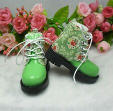 MSD DOC 1/4 Bjd Sasha Obitsu 60cm Bjd Doll Boots High Hill Shoes Flower Green