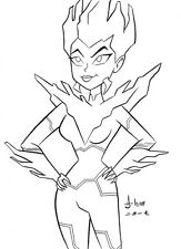 Killer Frost from Justice League Action Original Art by Howard M. Shum