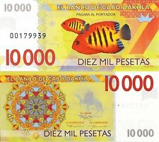 Cabo Dakhla 10000 pesetas 2013 UNC Clownfish Anemonefish - Private Issue
