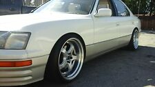 """19"""" JNC017 V2 Wheel 19x9.5 19x10.5 Silver Machine Lip Rims Lexus LS400 LS430"""
