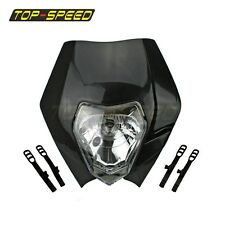 Headlights Headlamp Motorcycle For KTM SX EXC XCF SXF SMR Street Fighter Black