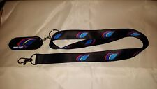 Peugeot Sport Flame Lanyard And Key Ring Black