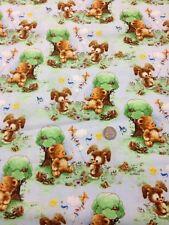 100% algodón tejido por medio metro Giordano Teddy Bunny el vuelo de cometas de impresión