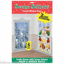 Cozy Christmas Party Scene Setter Add-on - Festive Frosted Windows
