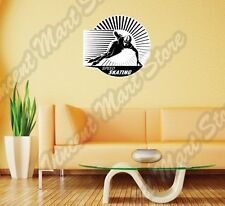 Speed Skating Ice Race Skates Sport Wall Sticker Room Interior Decor 22""