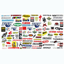 3PCS Bicycle Cycling Sticker Mountain Bike Skateboard Decal Stickers Random Send