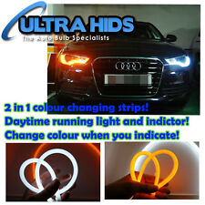 85cm Light Bar Strips White DRL Amber Indicator Flexible Strong Cuttable Audi