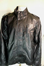 CALVIN KLEIN MENS MOTORCYCLE   LEATHER JACKET 2XL NEW NWT