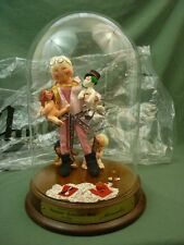 "Annalee Dolls 10"" ANNALEE Collector Doll Dome Wood Base Signed Numbered 90 AL136"