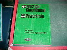1982 FORD FULL & MID SIZE PASSENGER CAR POWERTRAIN ENGINE SHOP MANUAL vg cond