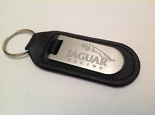 Jaguar Sports Key Ring Blind Etched On Leather XJR XJ TYPE F