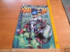 """1997 KABOOM AWESOME comics poster signed Jon Sibal 10x16"""""""