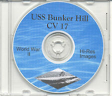 USS Bunker Hill CV 17 Hi Res Pictures WWII  on CD NARA
